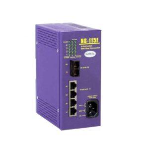 NS-115FC : 1 port Fiber Optic ,4 port 10/100M RJ-45 connector (AC85~230V)