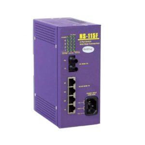 NS-115FT-AC : 1 port Fiber Optic ,4 port 10/100M RJ-45 connector (AC85~230V)