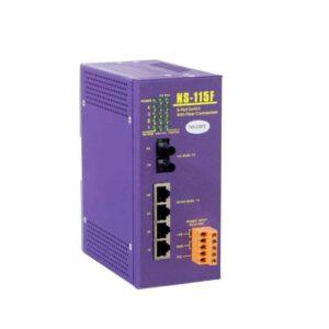 NS-115FT : 1 port Fiber Optic ,4 port 10/100M RJ-45 connector( DC10~30V)