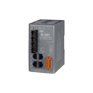 NS-206FC CR : Ethernet Switch/4 Ethernet/2 Fiber/SC/Mu-Mode/2km