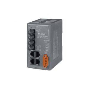 NS-206FT CR : Ethernet Switch/4 Ethernet/2 Fiber/ST/Mu-Mode/2km
