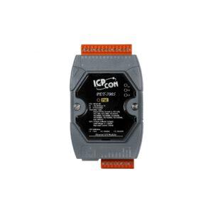 PET-7005-G CR : POE I/O Module/Modbus TCP/8AI/Thermistor/4DO