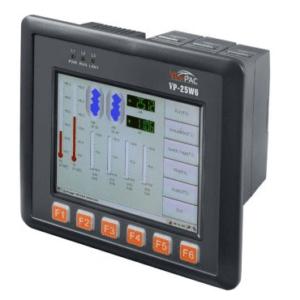 ICP DAS VP-25W6-EN CR : ViewPAC Controller/CE 5.0/ISaGRAF-InduSoft/5.7″LCD